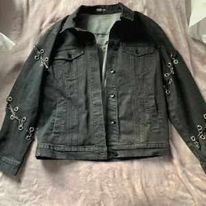 Grunge Black Denim Jacket